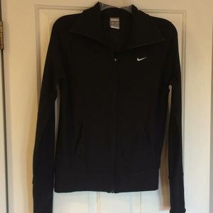 Nike Fit Dry Black Zip Up Activewear Jacket Small
